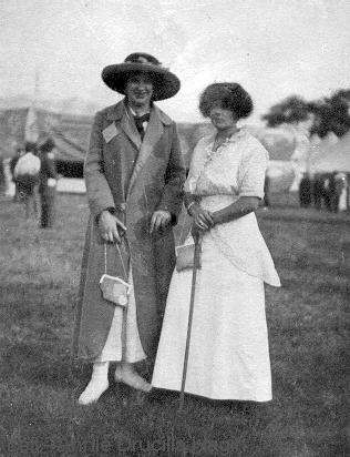 Annie Hagin on left