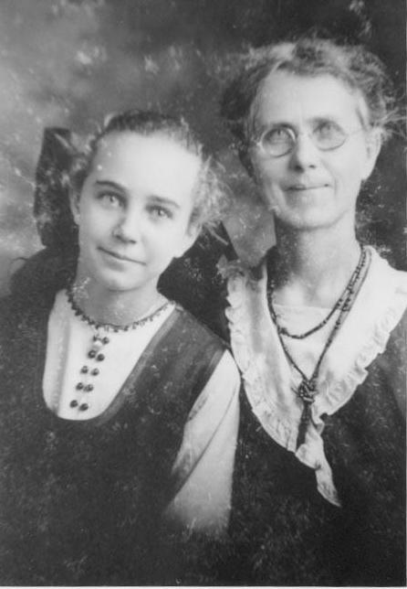 Harrieta (Hagin) and Gladys Van Landingham
