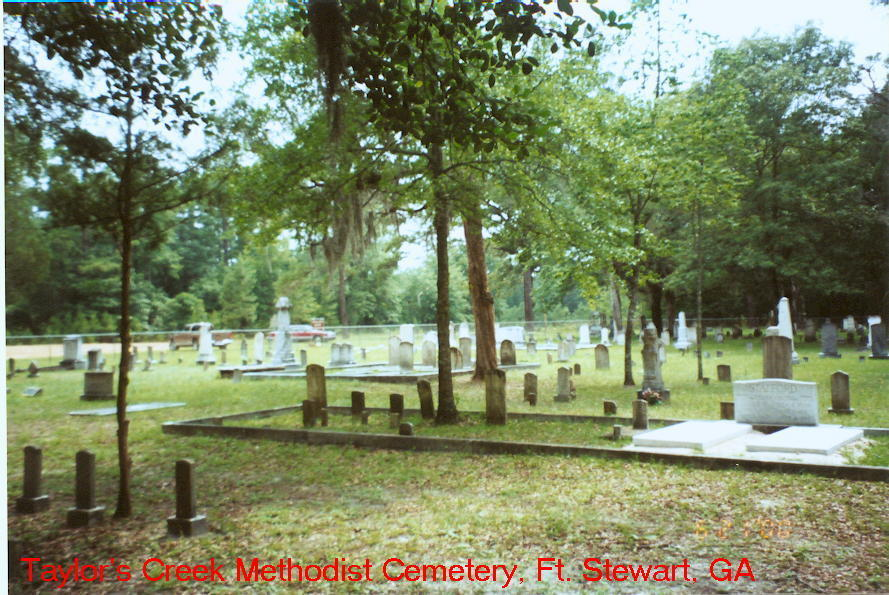Taylor Creek Cemetery, Ft. Stewart, Liberty Co. GA